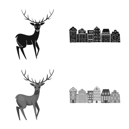 Isolated object of traditional and tour icon. Collection of traditional and landmarks stock symbol for web.
