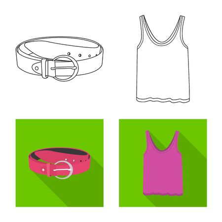 Vector design of woman and clothing symbol. Collection of woman and wear vector icon for stock.