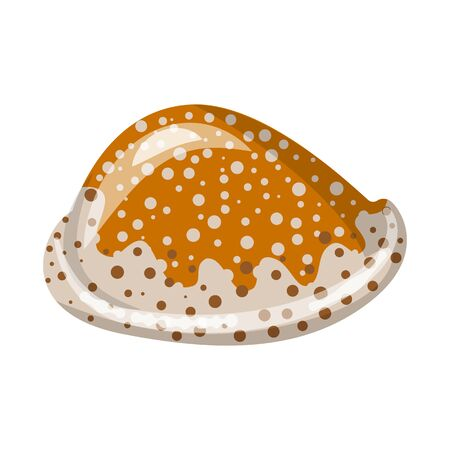 Isolated object of seashell and mollusk icon. Collection of seashell and seafood stock vector illustration.