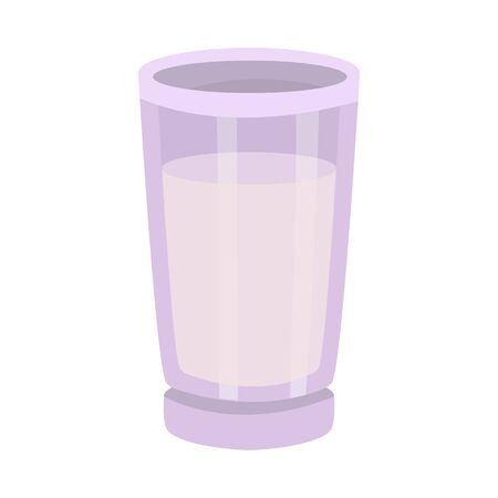 Vector design of glass and milk icon. Collection of glass and cup stock symbol for web. Ilustracja