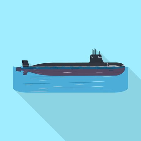 Vector design of military and nuclear. Collection of military and ship stock vector illustration.