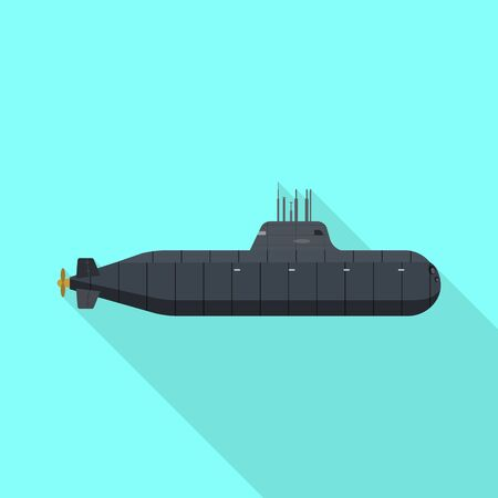 Vector design of military and nuclear icon. Collection of military and ship vector icon for stock.