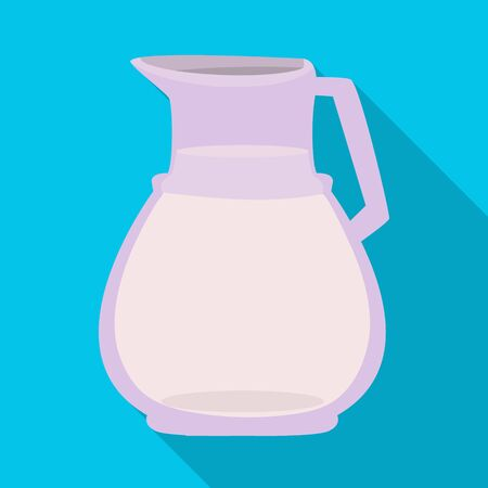 Vector design of milk and jug logo. Collection of milk and bottle stock symbol for web.