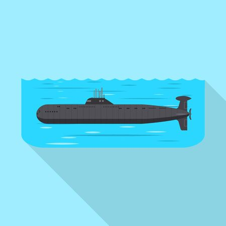 Isolated object of military and nuclear icon. Set of military and ship vector icon for stock.
