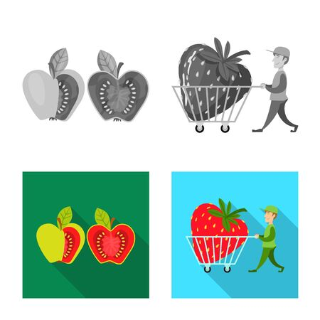 Vector design of test and synthetic icon. Set of test and laboratory vector icon for stock.