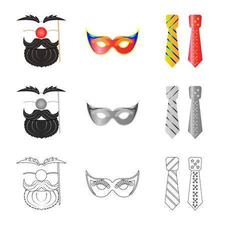 Vector illustration of party and birthday symbol. Collection of party and celebration stock vector illustration.