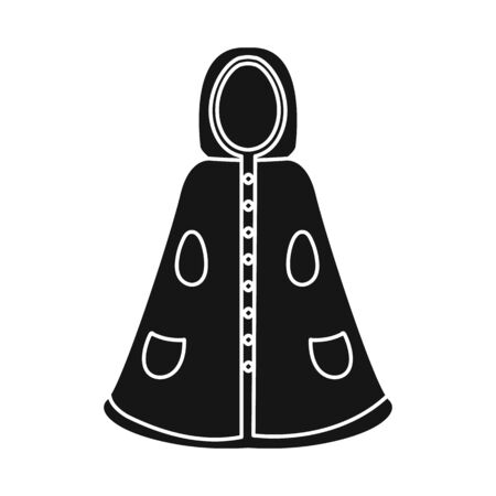 Vector design of cape and girl symbol. Set of cape and fancy stock symbol for web.