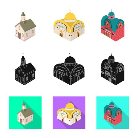Vector illustration of temple and historic. Collection of temple and faith vector icon for stock.