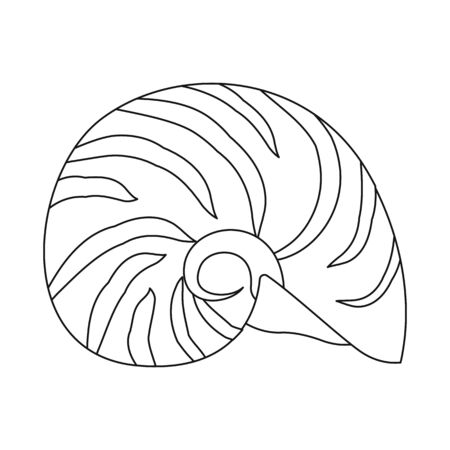 Vector illustration of exotic and seafood icon. Collection of exotic and aquatic vector icon for stock.
