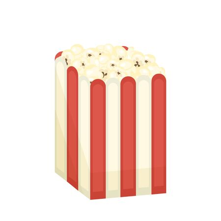 Vector design of pack and popcorn. Set of pack and pop stock symbol for web.