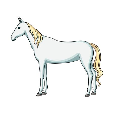 Vector design of steed and white logo. Collection of steed and hoofed vector icon for stock. Illustration