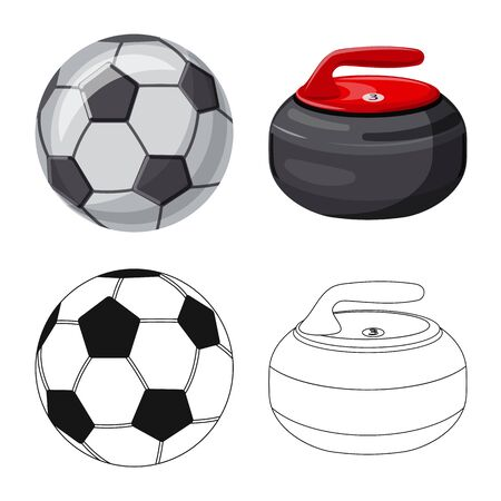 Vector design of sport and ball icon. Set of sport and athletic stock symbol for web.