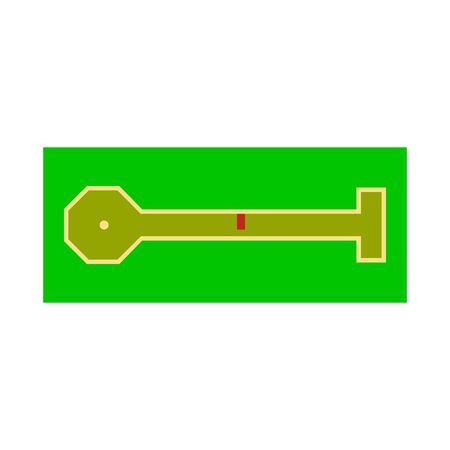 Vector design of golf and mini icon. Set of golf and club vector icon for stock.