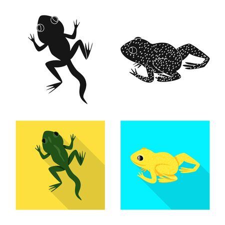 Vector design of wildlife and bog symbol. Collection of wildlife and reptile stock vector illustration.