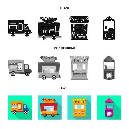 Diseño vectorial de diversión y tienda icono. Colección de diversión y símbolo de stock urbano para web.