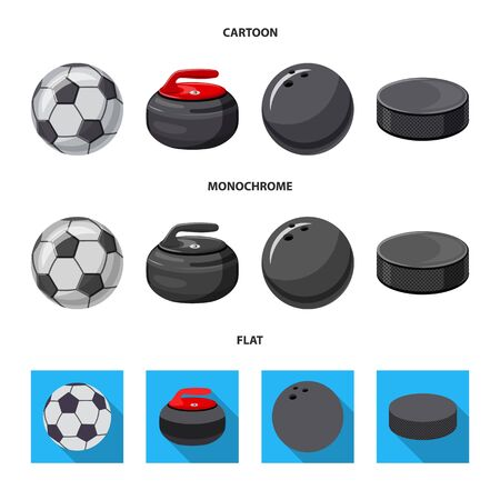 Vector illustration of sport and ball icon. Collection of sport and athletic vector icon for stock. Stock fotó - 126840189