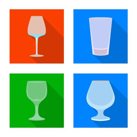 Isolated object of drinks and restaurant sign. Set of drinks and celebration stock vector illustration.