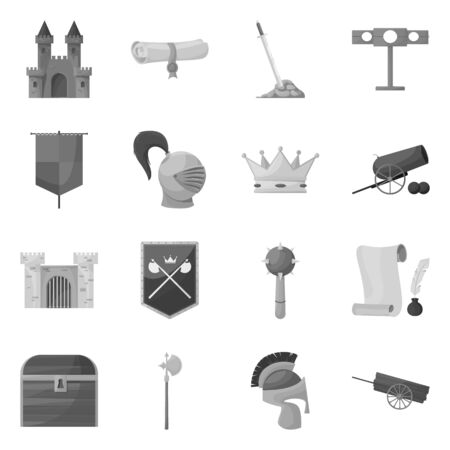 Vector design of heritage and ancient icon. Collection of heritage and culture vector icon for stock.