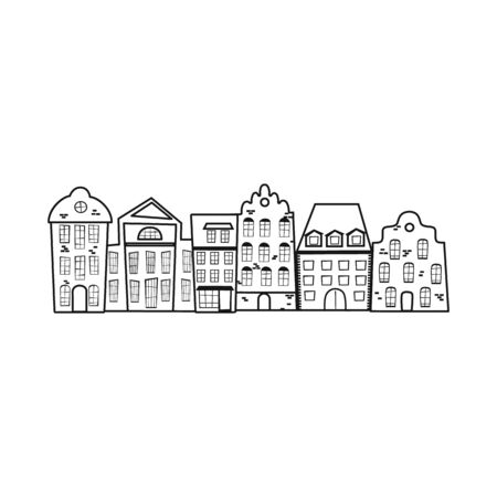 Isolated object of city and polish icon. Collection of city and castle stock vector illustration.