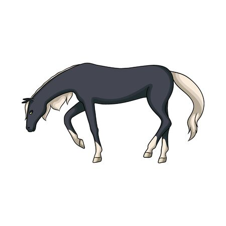 Vector design of running and horse symbol. Set of running and hoofed stock vector illustration.