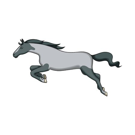 Vector design of horse and gallop sign. Set of horse and hoofed stock vector illustration.