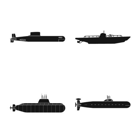 Vector design of technology and fleet icon. Collection of technology and navy stock vector illustration. Illustration