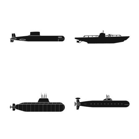 Vector design of technology and fleet icon. Collection of technology and navy stock vector illustration. Ilustracja