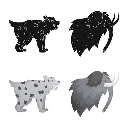 Isolated object of evolution and neolithic icon. Collection of evolution and primeval icon for stock.
