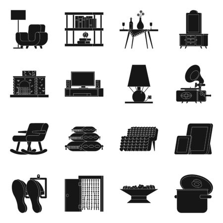 Isolated object of equipment and household icon. Collection of equipment and interior vector icon for stock.