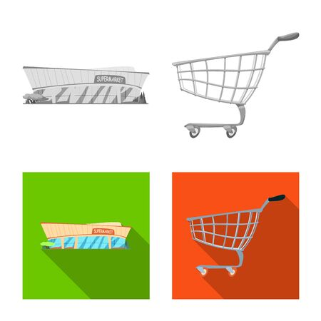 Isolated object of food and drink icon. Collection of food and store stock bitmap illustration. Stock Photo