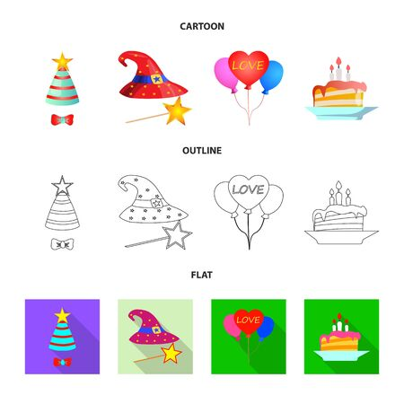 bitmap illustration of party and birthday icon. Collection of party and celebration stock symbol for web.