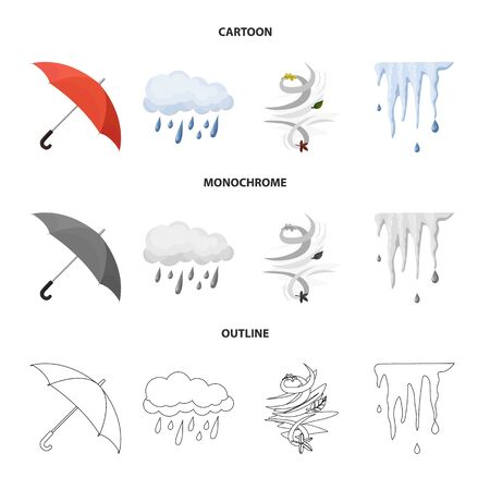 bitmap illustration of weather and climate sign. Collection of weather and cloud stock bitmap illustration.