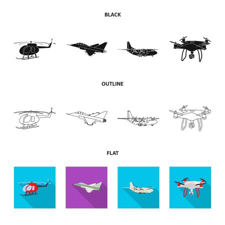 bitmap design of plane and transport. Set of plane and sky bitmap icon for stock. Banque d'images - 127274756