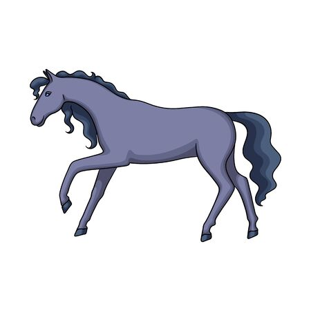 Isolated object of horse and hippodrome symbol. Collection of horse and horseback vector icon for stock. Illustration