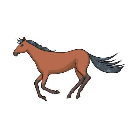 Vector illustration of horse and hippodrome symbol. Collection of horse and jumping vector icon for stock. Vettoriali