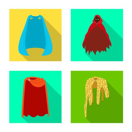 Vector design of material and clothing. Collection of material and garment vector icon for stock.