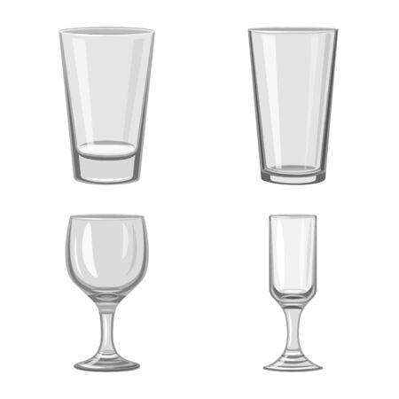 Illustration vectorielle de l'icône de capacité et de verrerie. Collection d'illustration vectorielle stock capacité et restaurant.