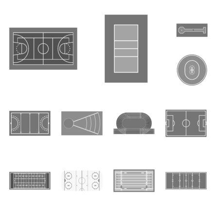 Vector illustration of grass and game sign. Set of grass and construction stock vector illustration. Standard-Bild - 127159535