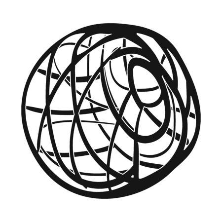 Vector illustration of tumbleweed and dry icon. Set of tumbleweed and valley stock vector illustration. Ilustração