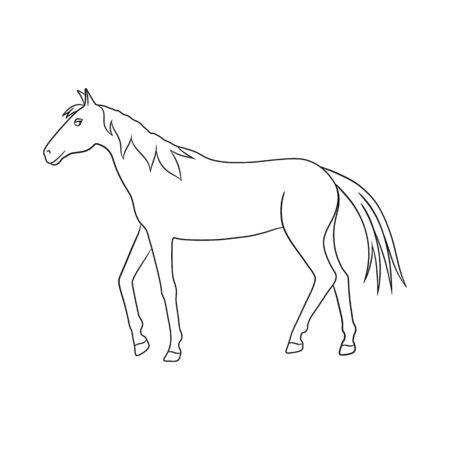 Vector design of horse and dapple symbol. Set of horse and fauna vector icon for stock.