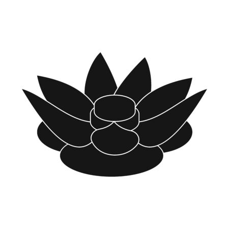 Vector design of lotus and nature icon. Collection of lotus and pool vector icon for stock.