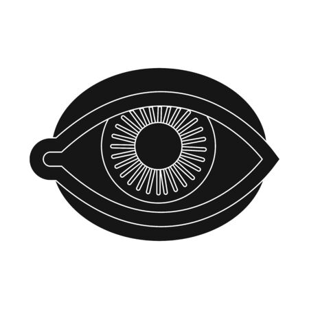 Isolated object of eye and eyeball symbol. Set of eye and blue vector icon for stock.