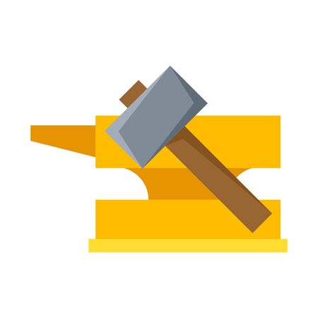 Vector illustration of hammer and hephaestus sign. Collection of hammer and vector icon for stock.