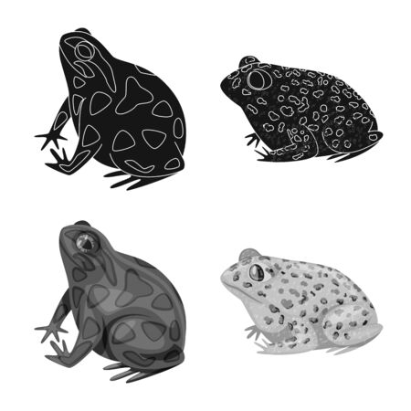 Vector illustration of wildlife and bog icon. Set of wildlife and reptile stock symbol for web.
