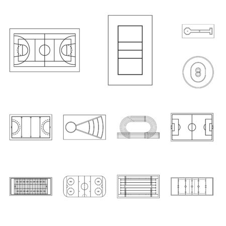Isolated object of plan and sport. Collection of plan and game stock symbol for web. Standard-Bild - 127160818