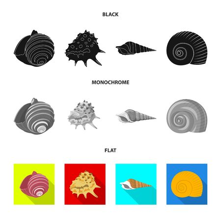 Vector design of animal and decoration. Collection of animal and ocean vector icon for stock.