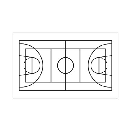 Vector design of stadium and basketball sign. Set of stadium and professional vector icon for stock. Illustration