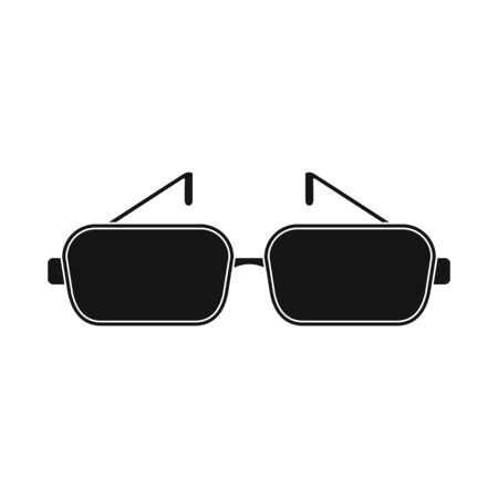 Vector design of glasses and frame icon. Collection of glasses and lens stock symbol for web. Illustration