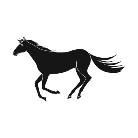 Isolated object of horse and hippodrome. Collection of horse and jumping stock vector illustration. Illustration