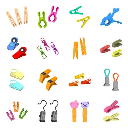 Vector illustration of tool and hold icon. Collection of tool and household stock vector illustration.